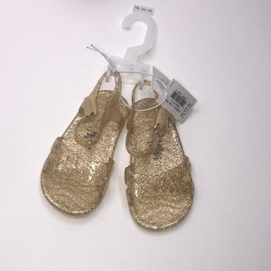 Old Navy Baby Girl  Gold Jelly Ballet Size sandals